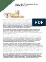 Documento De Consenso Sobre El Tratamiento De La Diabetes Tipo dos En El Paciente Con