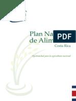 Plan Nacional de Alimentos Costa Rica 2008