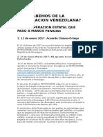 Que Sabemos de La Cooperacion Venezolana