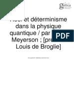 Meyerson - Réel Et Déterminisme