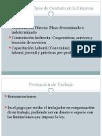 2 Resumen de Tipos de Contrato en La Empresa