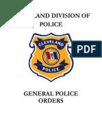 CLE General Police Orders 6-2-15