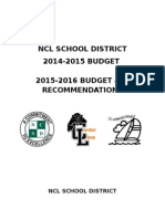 budget report ncl