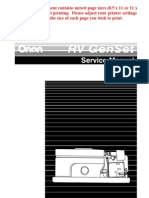 Onan RV GenSet Service Manual