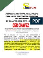 Proyecto de Contrato Colectivo SINAFUM 2015 - 2017-3