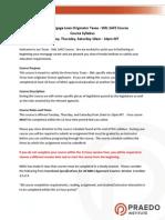 TX Mortgage Law Syllabus T, TH, Sat Renewal 2015