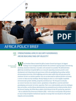 Strengthening Africa's Security Governance