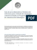 Massoni s Guia de Procedimientos y Terminos de Referencia Para El Diseno de Estrategias Comunicacionales (1)