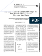Carbon and Nitrogen Into HAZ
