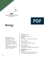 2006 Biology Hsc Exam