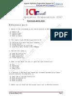 MS Word Practice Quiz 01