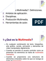 El Proceso de Creación Multimedia