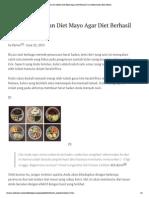 Patuhi Jam Makan Diet Mayo Agar Diet Berhasil _ Cara Menurunkan Berat Badan