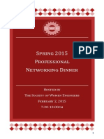 SWE Networking Dinner Spring 2015 Brochure