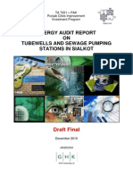 33 Energy Audit Report on Tubewells and Sewage Pumping Stations in Sialkot