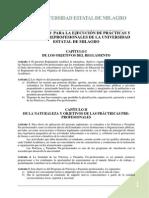 Reglamento Para La Ejecucion de Practicas y Pasantias Preprofesionales de La Universidad Estatal de Milagro