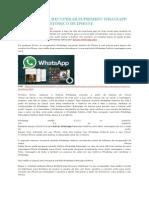 2 Maneiras de Recuperar Suprimido Whatsapp Mensagens Histórico de iPhone