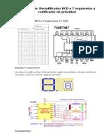 Laboratorio BCD a 7 Segmentos y Codificador Prioridad