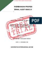 Makalah Perkembangan Profesi Internal Audit Abad 21 Unsecured