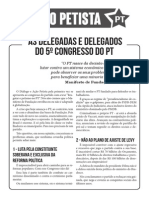 Manifesto ao 5o Congresso Do PT
