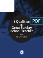 8 Qualities of a Great Sunday School Teacher