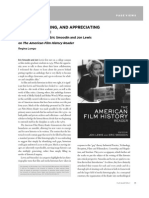 WRITING, READING, AND APPRECIATING FILM HISTORIES: