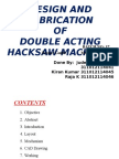 Design & Fabrication Of Double Acting Hacksaw Machine