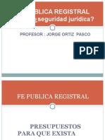 Seguridad Juridica y Fe Publica