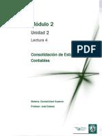 Lectura 4 - Consolidación de Estados Contable