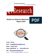 Global Ion Selective Electrode Industry Report 2015.