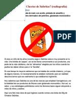 ¿Qué Contienen Los Cheetos de Sabritas_ (Radiografía)