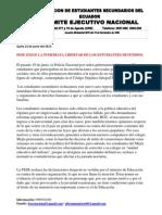 FESE EXIGE LA INMEDIATA LIBERTAD DE LOS ESTUDIANTES DETENIDOS.