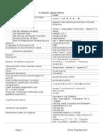 R Studio Cheat Sheet for Math1041