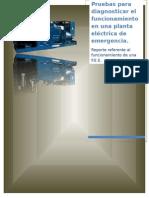 Pruebas Para Diagnosticar El Funcionamiento de Una Planta Eléctrica de Emergencia