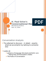 H. Paul Grice's Conversational Maxims