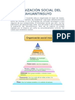 Organización Social Del Tahuantinsuyo