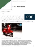 Vespa Corsa 125…Si Otomatis Yang Mati Duluan