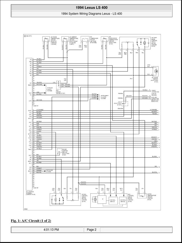 LS400 1994 Wiring | Lexus | Rear Wheel Drive Vehicles
