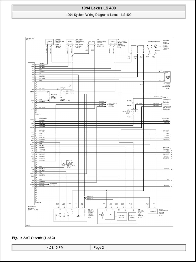 ls400 1994 wiring | lexus | cars of japan  scribd