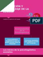 Adquisición y Aprendizaje de La Lengua