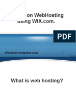 Tutorial on Webhosting using WIX.pptx
