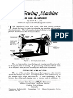 Your Your Sewing Machine - Care and Adjustment