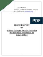 Role of an Entrepreneur