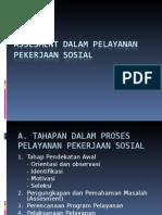 Assesment Dalam Pelayanan Pekerjaan Sosial