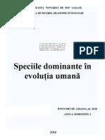 Speciile dominante în evoluția umană