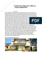 Rumah Dijual Di Sentul City, Bogor, Rp. 3 Miliar an, 16810
