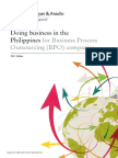 Doing Business in the Philippines for BPOs - 2012 Edition