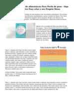 Exemplo de Planos de alimentacao Para Perda de peso - Siga Este Guia Informativo Para criar o seu Proprio Menu