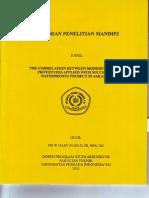 THE CORELATION BETWEEN MODERN HOUSING PROTYPES APPLIED WITH SUCESSFUL WATERFRONTS PROJECT IN JAKARTA LAPORAN PENELITIAN MANDIRI.PDF