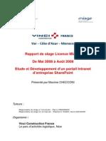 Rapport de Stage Final Checconi Maxime